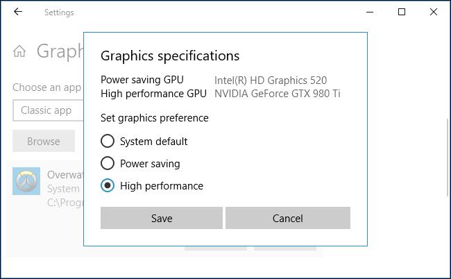 Setting the GPU to default image 2