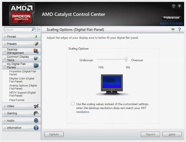 AMD Catalyst Settings