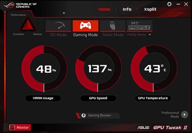 ASUS Rog GPU Tweak Software