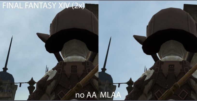 Final Fantasy XIV image with MLAA implementation