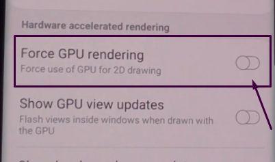 Force GPU Rendering Option image