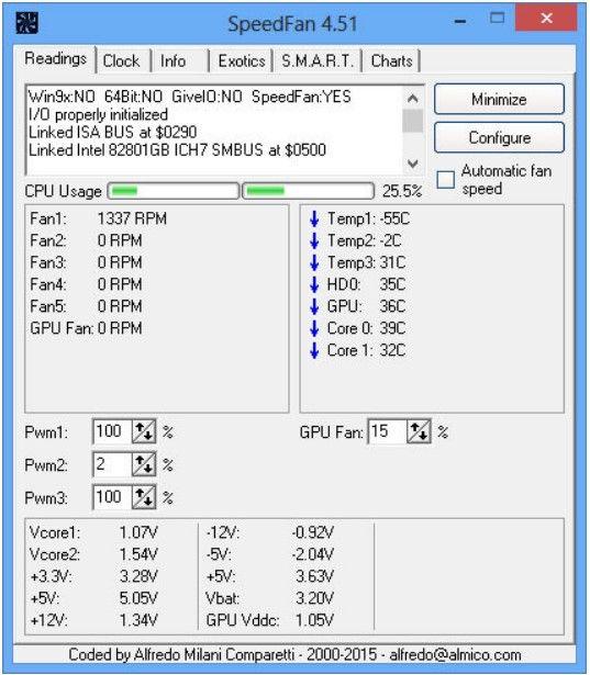 SpeedFan interface image