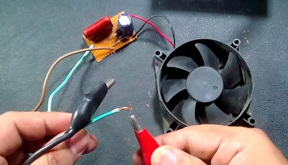 Image of a GPU fan testing