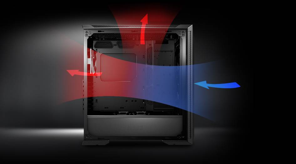 Image of how your pc case airflow should be