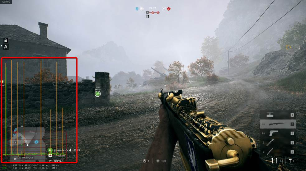 Showing the stuttering in BF1 on PC