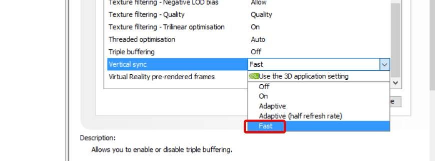 fast sync mode in windows 10