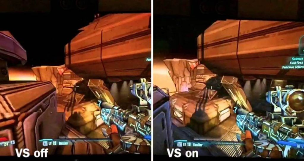 showing the difference in Vsync on or off