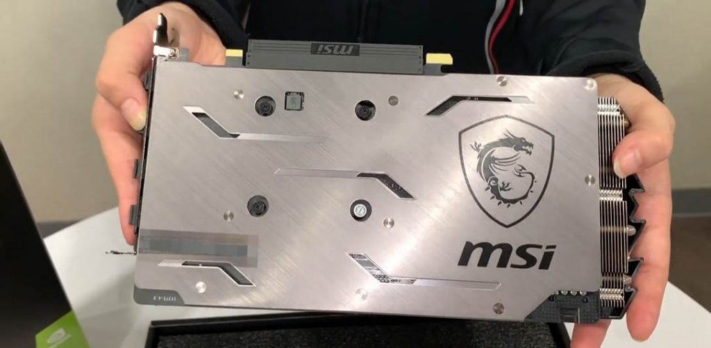image of a person holding the MSI GAMING X RTX 2060 SUPER